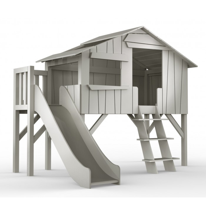 THREEHOUSE SINGLE BED & SLIDE + PLATEFORM