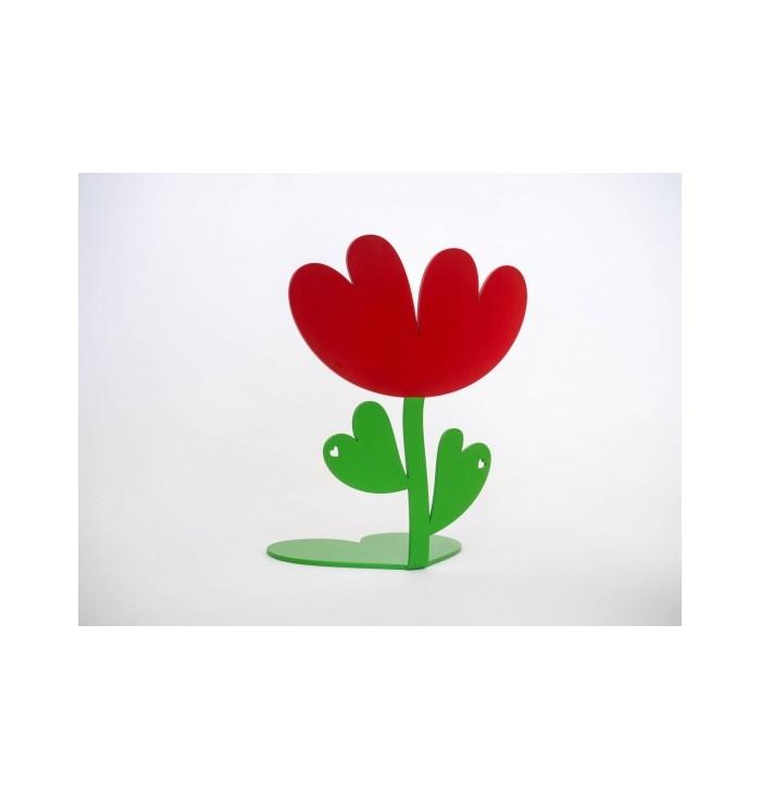 Bookend shaped like a tulip