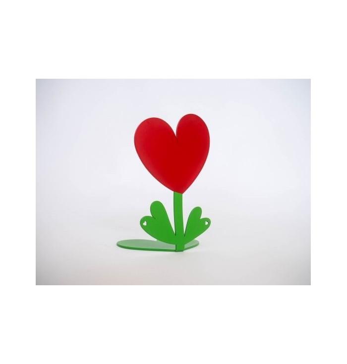 Bookend shaped like a heart