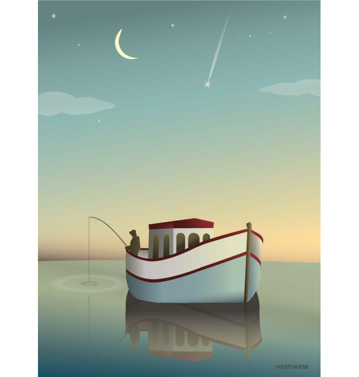 Poster 30x40 - The fisherman - Vissevasse