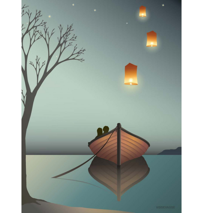 Poster 30x40 - The lanterns - Vissevasse