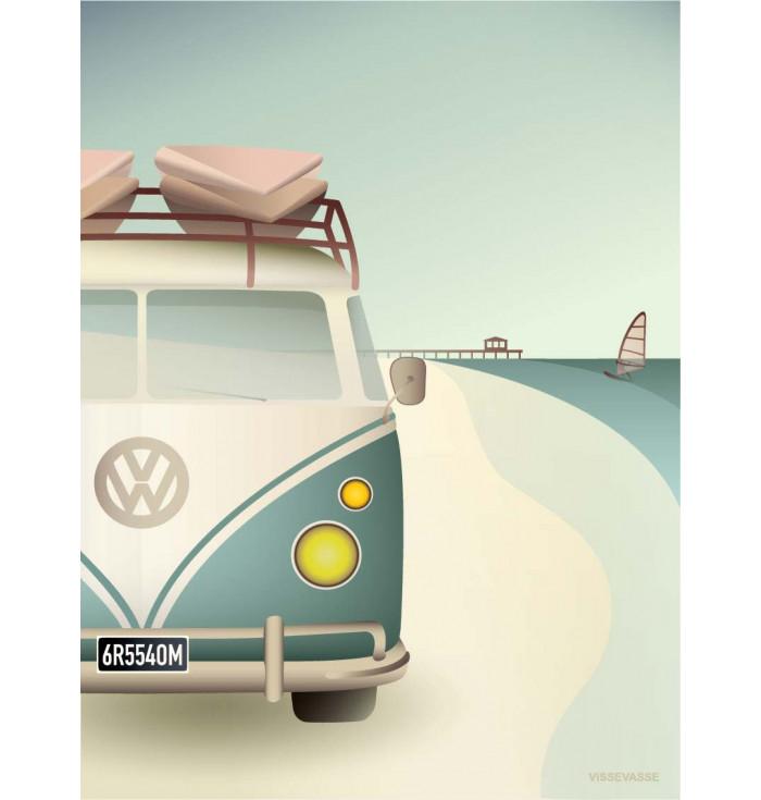 Poster 30x40 - VW Camper - Vissevasse