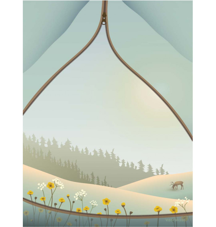 Poster 30x40 - Tent with a view - Vissevasse