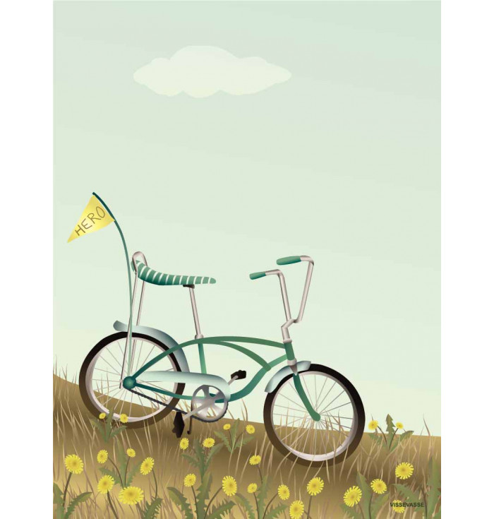 Poster 30x40 - Bike with a flag - Vissevasse