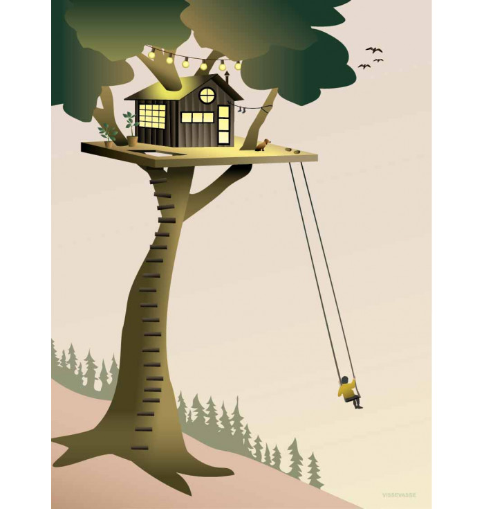 Poster 30x40 - Tree House - Vissevasse