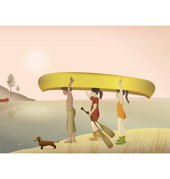 Poster 30x40 - Canoe - Vissevasse