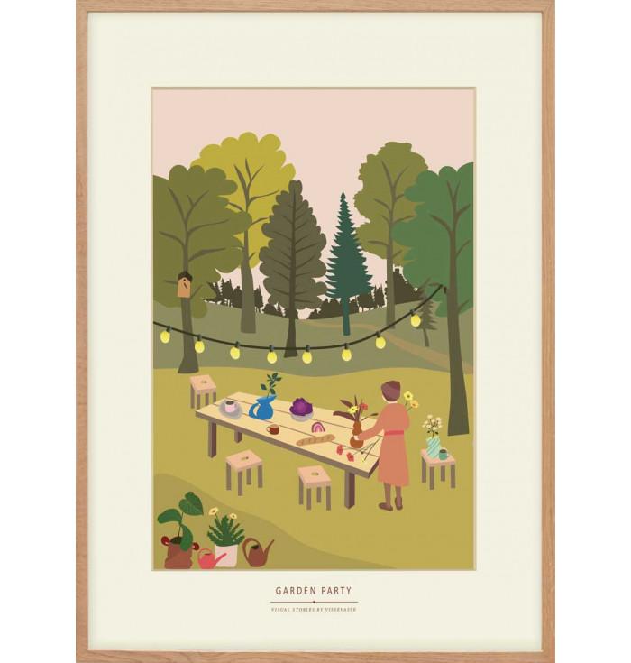 Poster 30x40 *limited edition* - Garden Party - Vissevasse