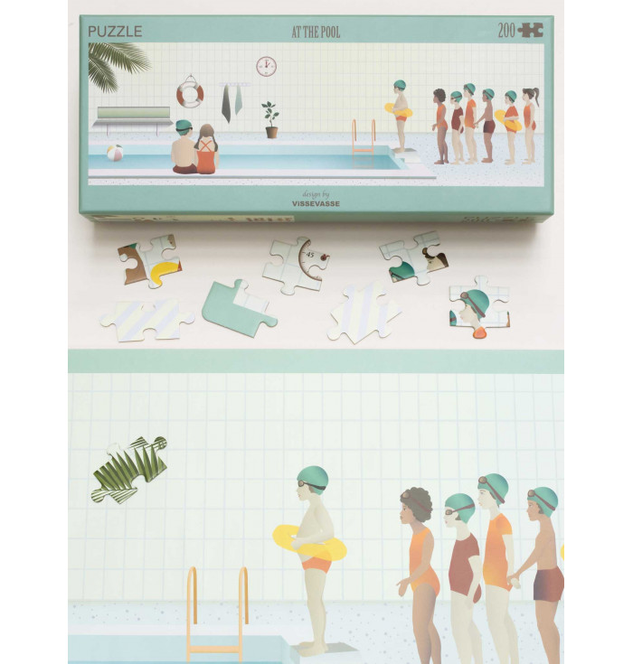 Puzzle 200 pezzi - At the pool