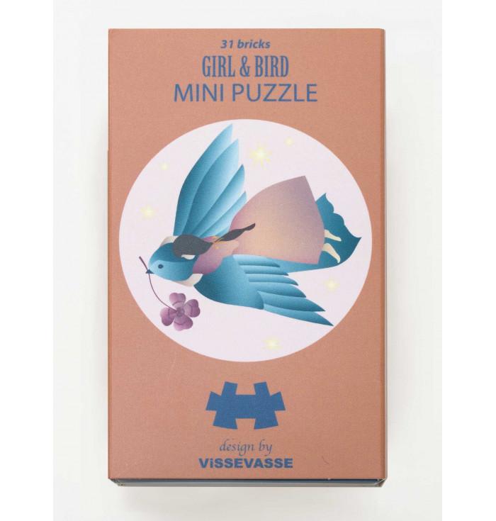 Mini Puzzle 31 pezzi - Girl and Bird