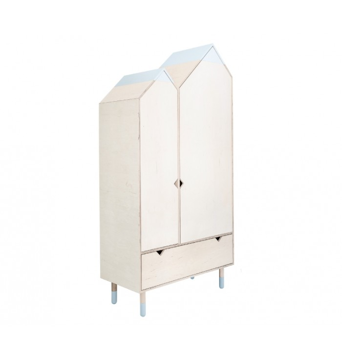 Mountains Collection Wardrobe - Wood Luck