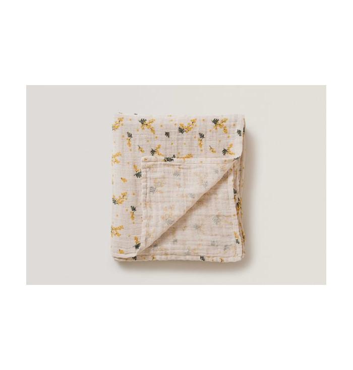 Mimosa Muslin swaddle blanket - garbo&friends