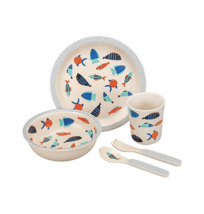 BAMBOO TABLEWARE fishes