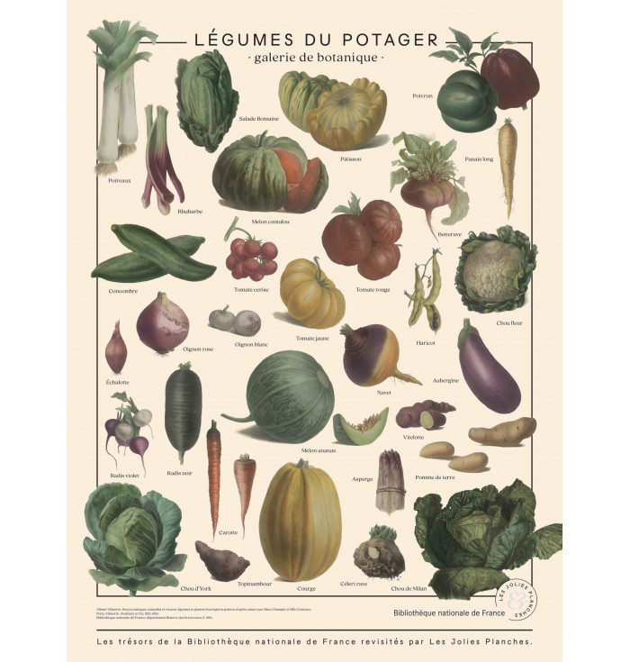 Poster in canvas French national Library - Vegetables