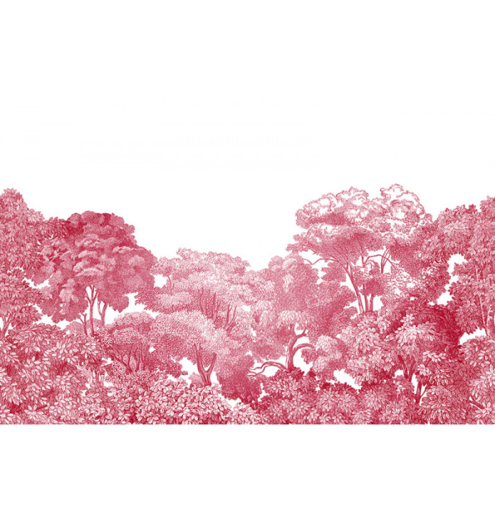 Wallpaper - Bellewood Crimson Toile - Rebel Walls