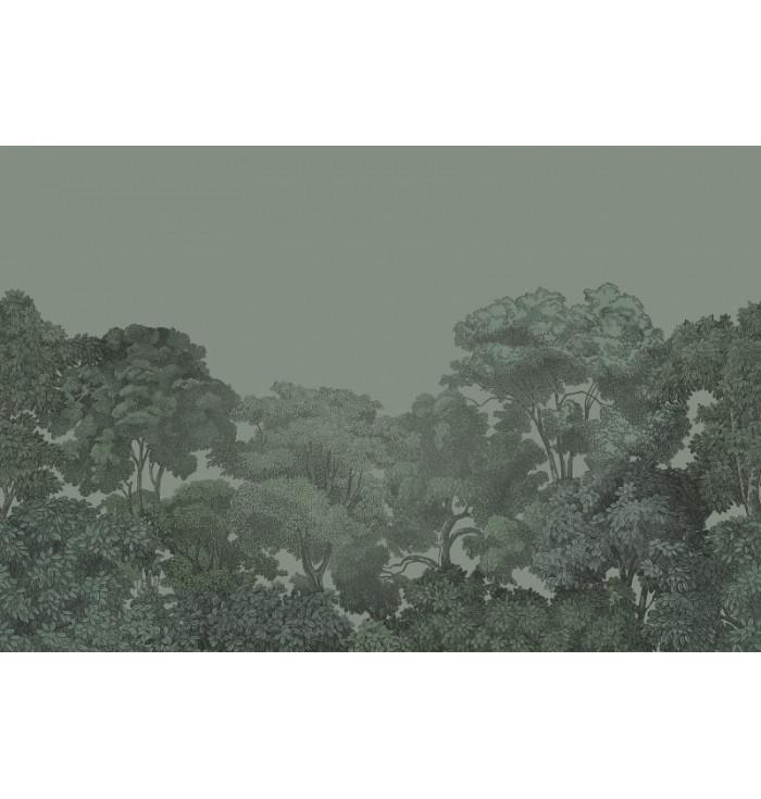 Wallpaper - Bellewod Solid Green - Rebel Walls