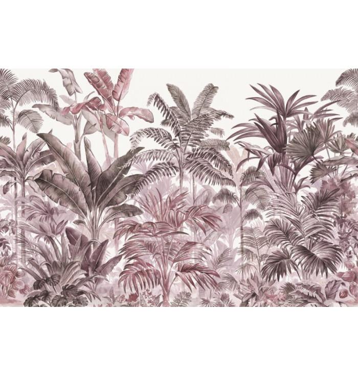 Wallpaper - Prime Palms Plum - Rebel Walls