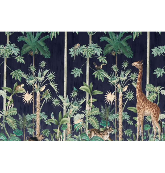 Carta da parati - Giraffe's Stroll Nightfall - Rebel Walls