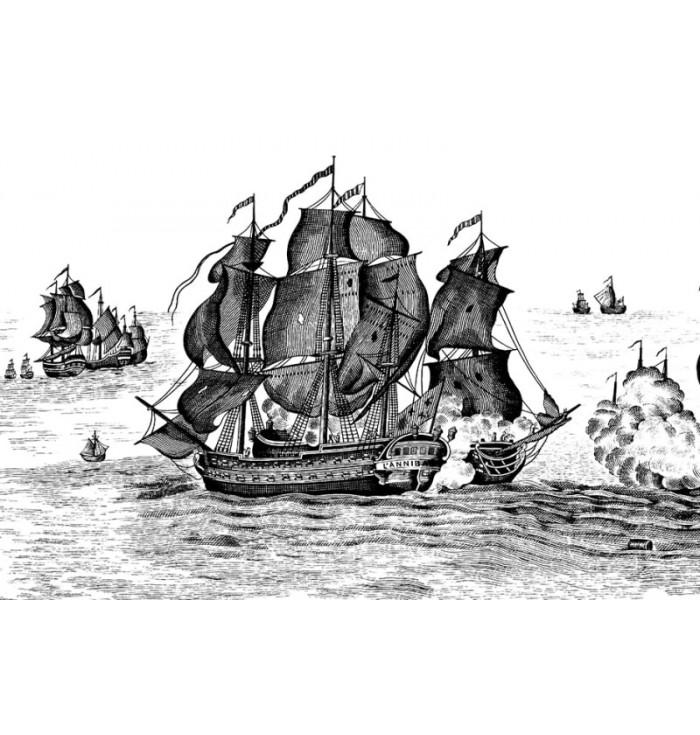 Carta da parati - High Seas Henderson Black - Rebel Walls