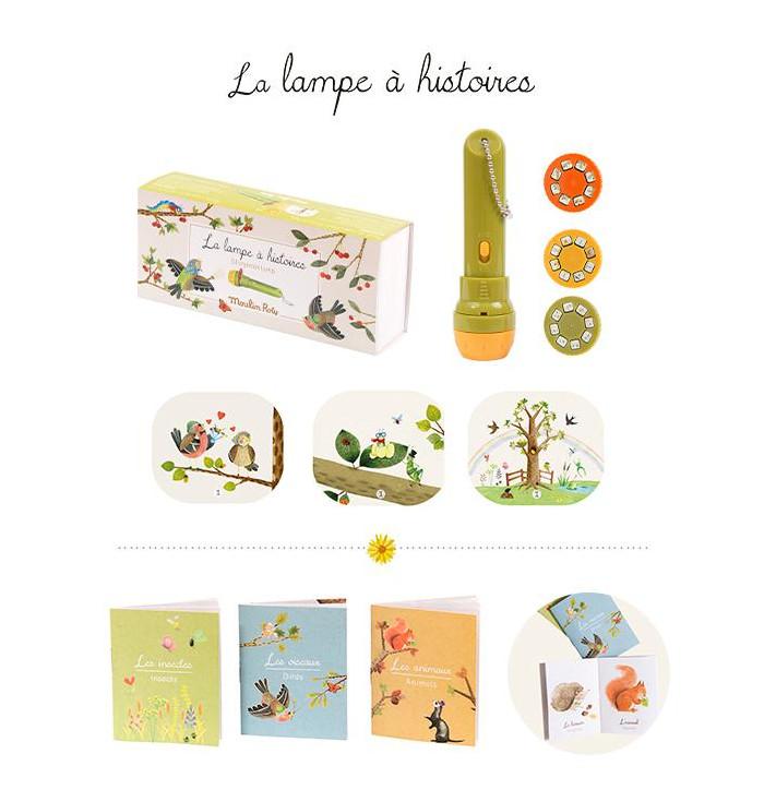 Lampada Proietta Favole + 3 mini libri - Moulin Roty