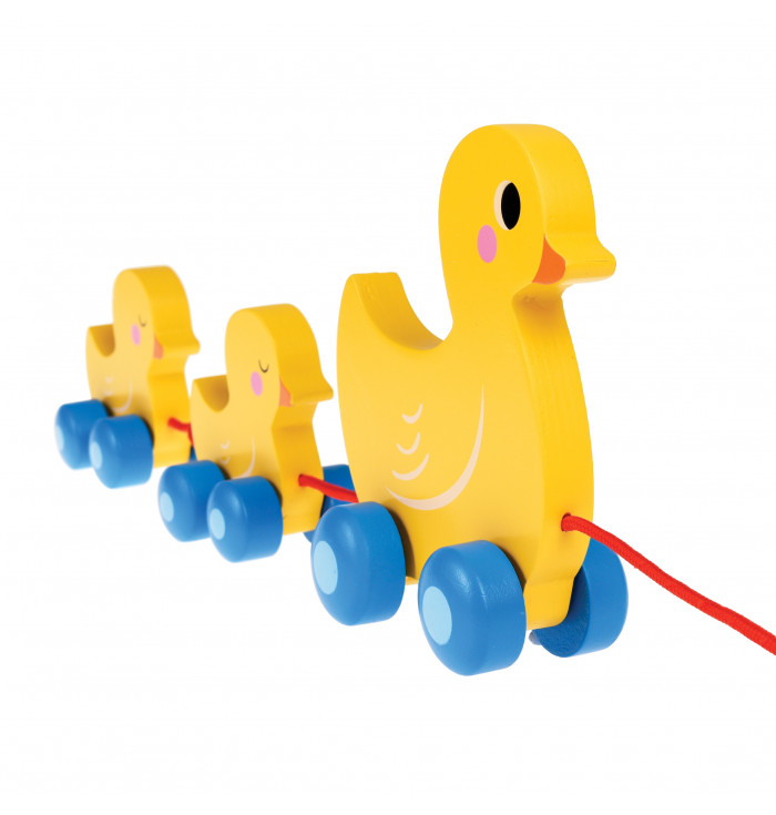 DUCK FAMILY WOODEN PULL TOY - rex