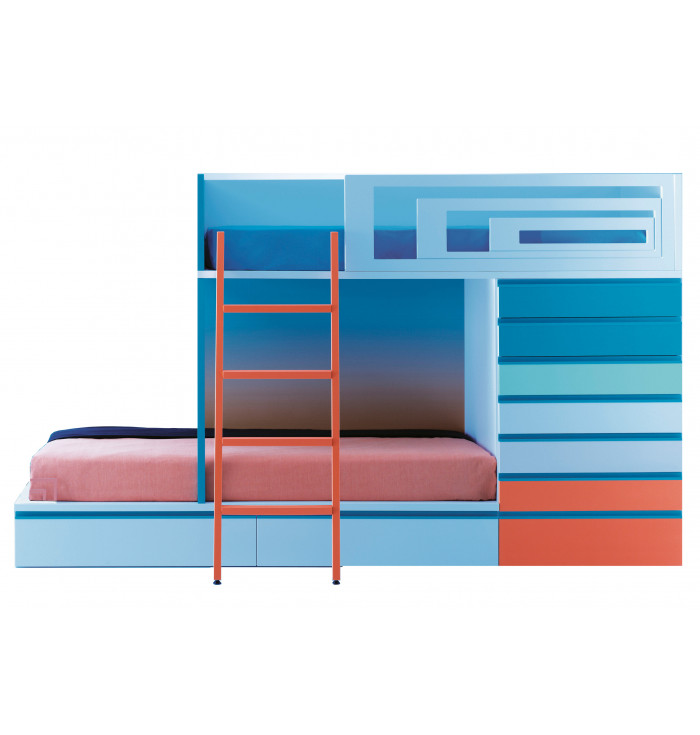 Bunk bed with drawers Train - Lagrama