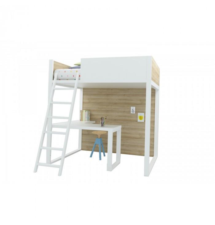 Homage Loft Bed With Desk - Lagrama