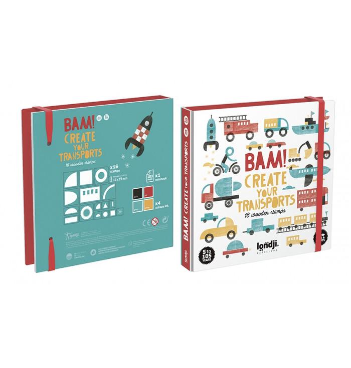Londji Stamps game - Bam! Transports