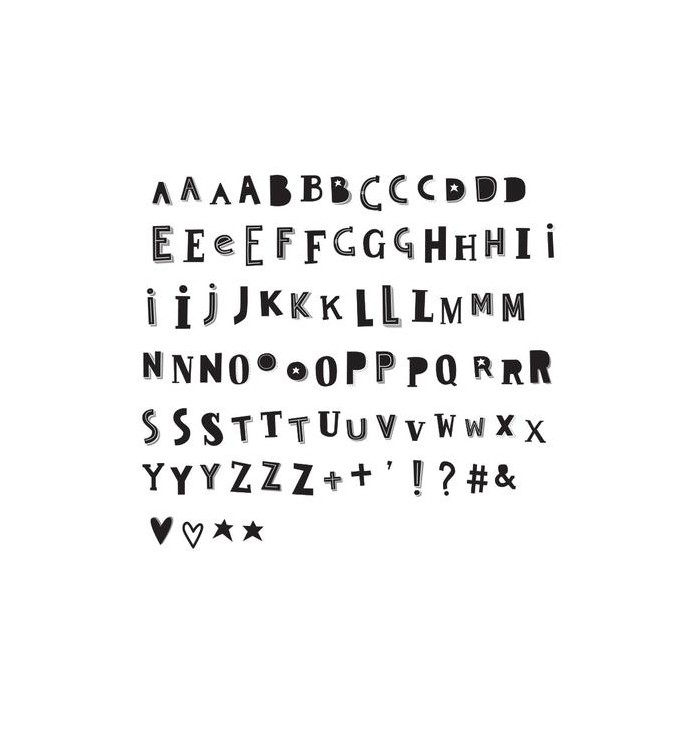 Letter set for lightbox a4