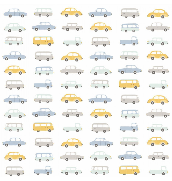 Fabric Happy Dreams - All over Vintage cars