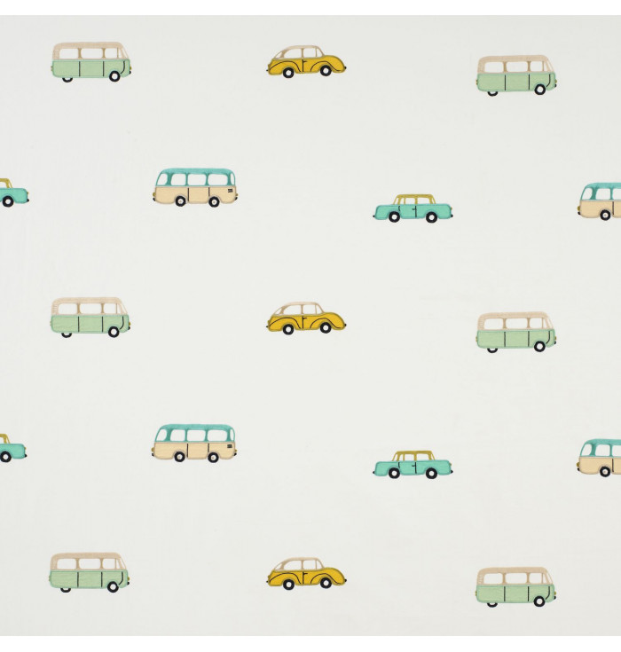 Fabric Happy Dreams - Broderie Vintage cars