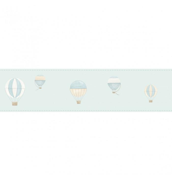Wallpaper frise My Little World - Hot air balloons - Casadeco