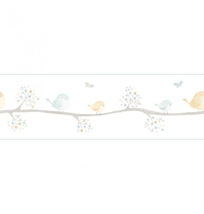 Bordo in carta da parati My Little World - Uccellini - Casadeco