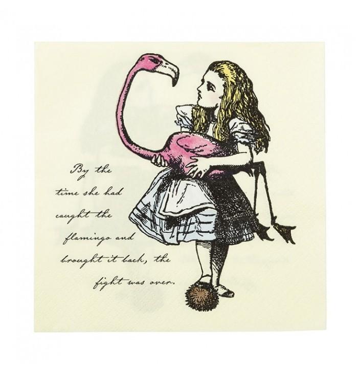 Tovaglioli decorati Alice nel paese delle Meraviglie