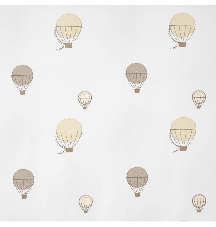 Textile embroidered My Little World - Hot air balloons - Casadeco