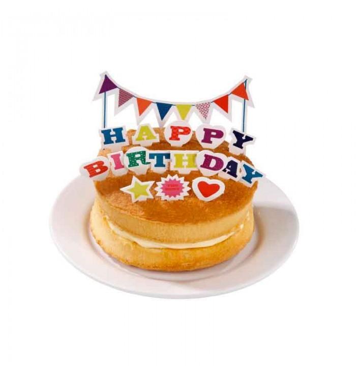 Decorazioni torta con scritta Happy Birthday
