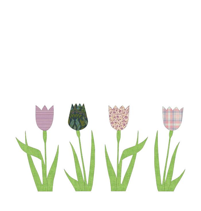 Shape wallpaper Inke - Tulips
