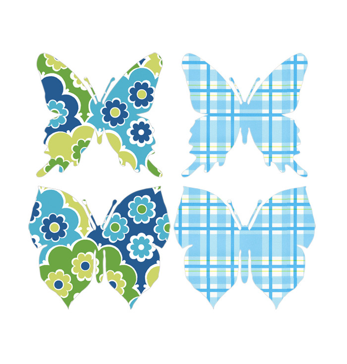 Shaped Wallpaper INKE - Butterflies
