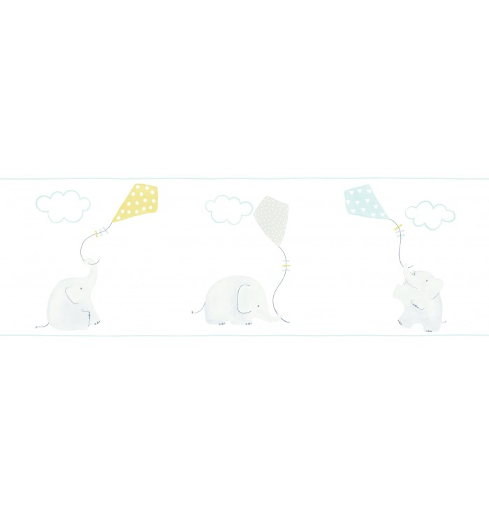 Wallpaper frise My Little World - Elephants - Casadeco