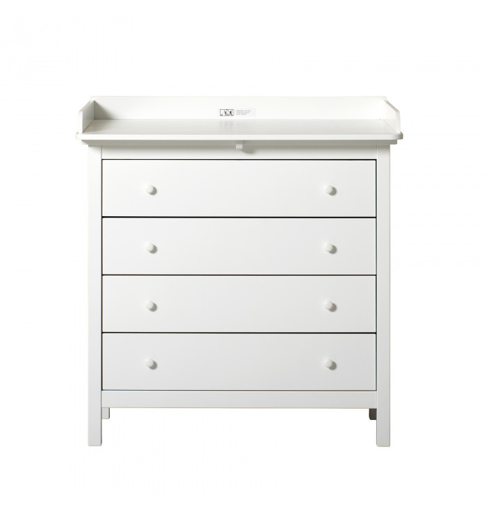 Seaside dresser with 4 drawers and changing top - Oliver Furniture
