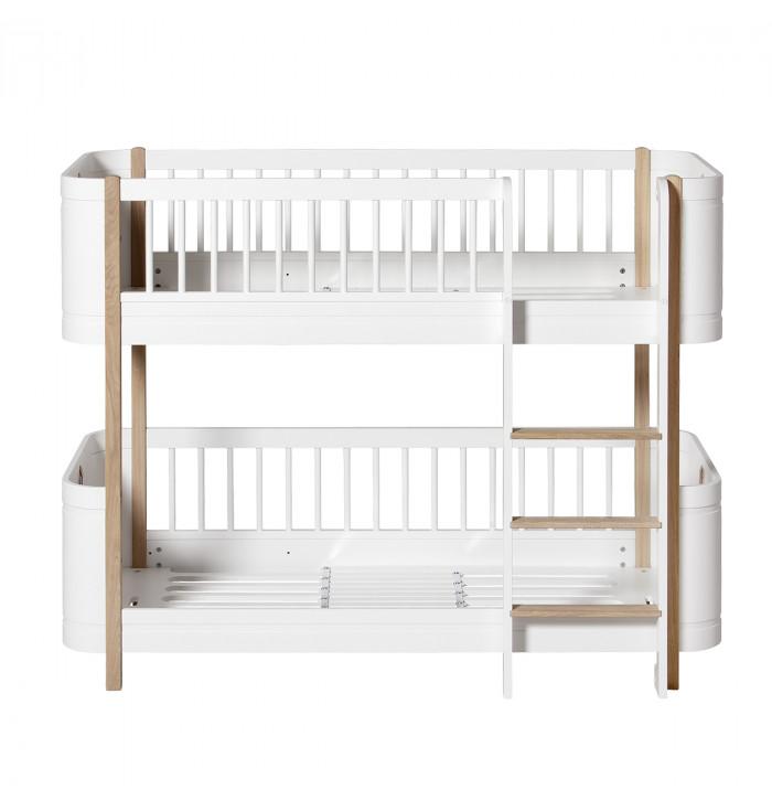 WOOD MINI+ LOW BUNK BED - Oliver Furniture