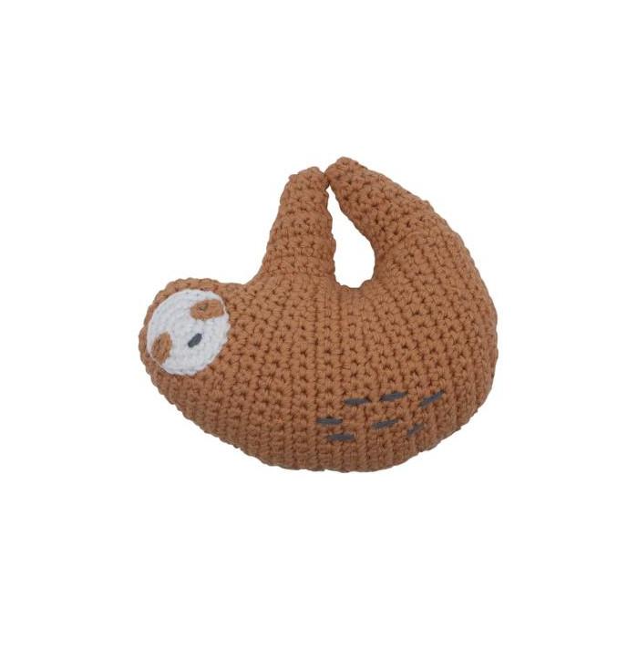 Crochet rattle Sloth - Sebra