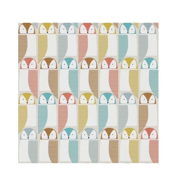 Wallpaper - Noukku - Barnie owl fabric
