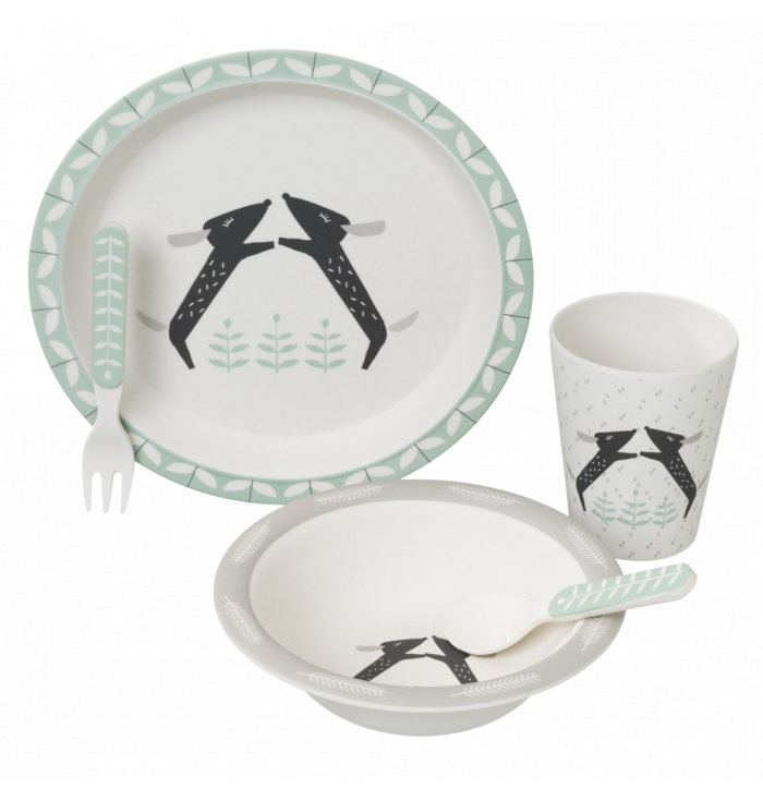 Set pappa in bamboo Bassotto - Fresk