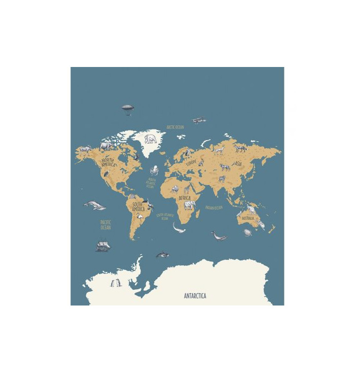 Carta da parati Our Planet - World Map - Caselio