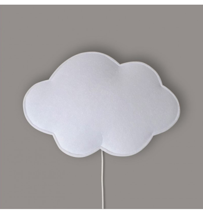 Lampada soffice con interruttore - Nuvola Bianca - Buokids