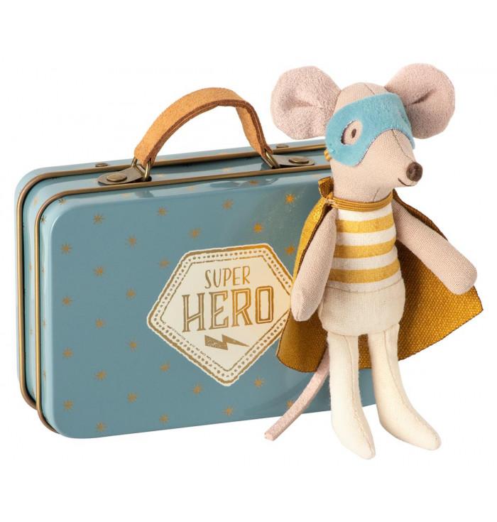 Topolino supereroe con valigia - Maileg