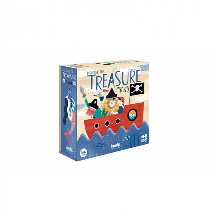 Puzzle 40 pezzi Londji - Discover the treasure