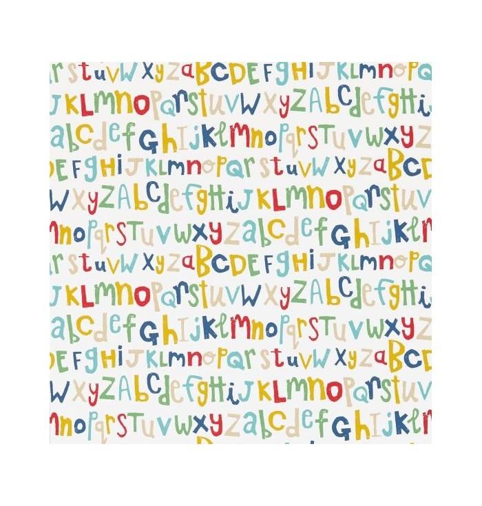 Tessuto Guess who? - Letters play - vari colori