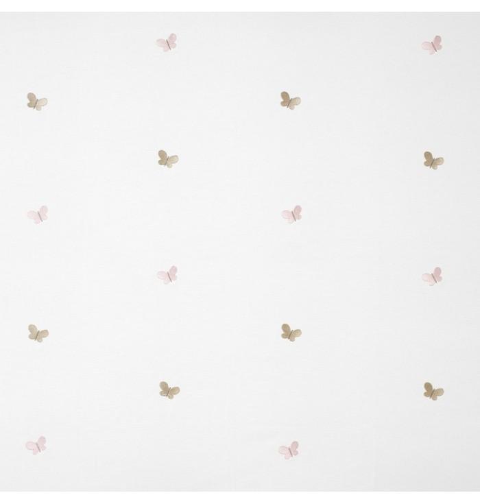 Tessuto ricamato My Little World - Farfalle - Casadeco