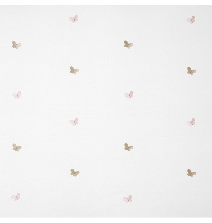 Textile embroidered My little world - Papillons brodes - Casadeco